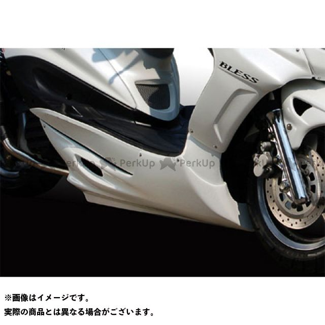 送料無料 ブレスクリエイション シグナスX カウル・エアロ フロントアンダーカウル(FRP 一般色塗装品) ホワイトメタリック1