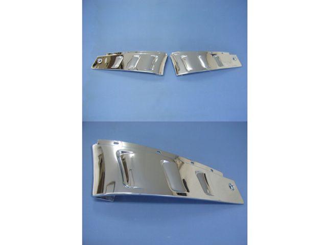送料無料 バットウィング ZZR1100 カウル・エアロ ZZR1100-C&D/ZX11-C&D ハーフアンダーカウル(左右セット)/バットウイングオリジナル(共通デザイン) D型用 クロームメタリックメッキコーティング仕上げ