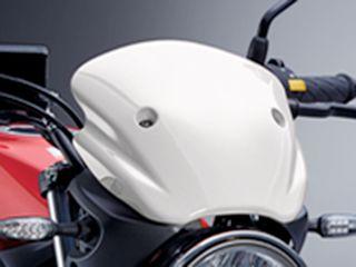 送料無料 スズキ SV650 スクリーン関連パーツ メーターバイザー ホワイト