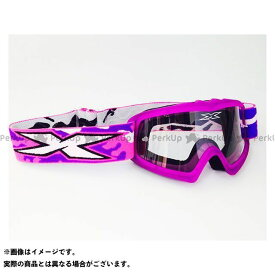 【エントリーで更にP5倍】イクスブランド X-Brand キッズ用ゴーグル 『X-GROM』 Liquid フローパープル 紫 EKS Brand
