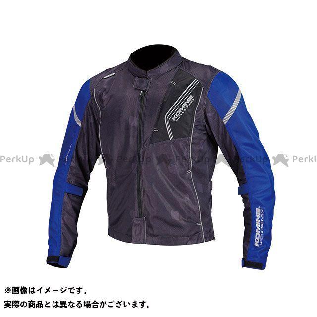 送料無料 コミネ KOMINE ジャケット 2018年春夏モデル JK-128 プロテクトフルメッシュジャケット(ブラック/ブルー) WL