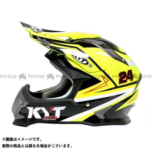 送料無料 KYT ケーワイティー オフロードヘルメット ストライクイーグル シンプソンレプリカ(イエロー) M/57-58cm