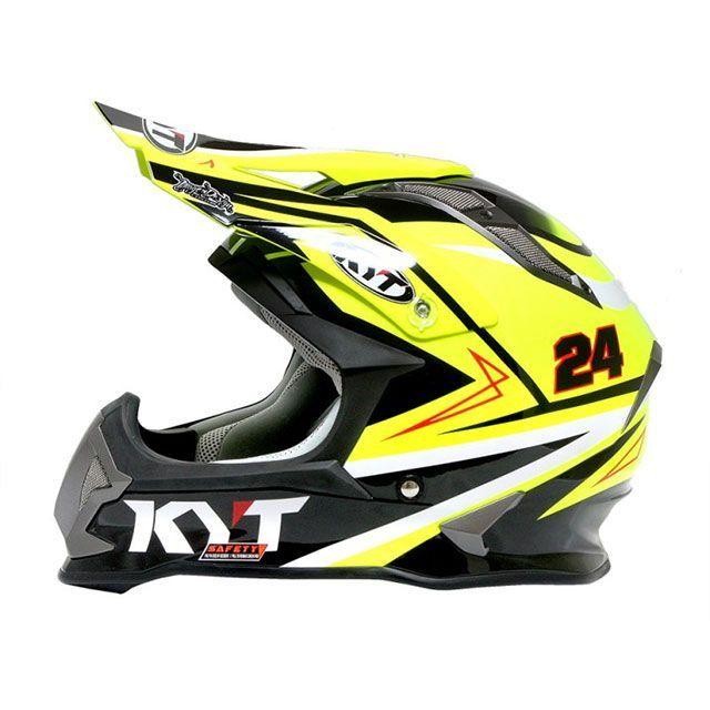 送料無料 KYT ケーワイティー オフロードヘルメット ストライクイーグル シンプソンレプリカ(イエロー) XXL/63cm