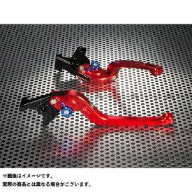 ユーカナヤ CBR250RR Rタイプ 可倒式 アルミ削り出しビレットレバー(レバーカラー:レッド) 調整アジャスター:ブルー U-KANAYA