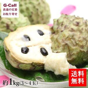 送料無料 沖縄産 アテモヤ 約1kg 3〜4玉 お取り寄せ/フルーツ/果物/珍しい/カスタードアップル/森のアイスクリーム/糖度20〜25度