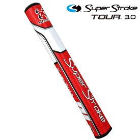 スーパーストローク ツアー3.0 Traxion TOUR パターグリップ レッドホワイト SUPER STROKE GOLF GRIP 【USモデル】【新品】【即納】【あす楽対応】 【ラッキーシール対応】