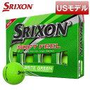 【USモデル】スリクソン ソフトフィール ブライト グリーン ゴルフボール 1ダース12球入り 2020年モデル 【新品】【即納】【あす楽対応】