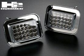 LED クリスタル パーク シグナル ランプ IPCW製 クリア ウィンカー 在庫あり 【適合車】03-09 ハマー H2 HM77