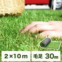 選べる2カラー ロールタイプ リアル人工芝 U字固定ピン40本 芝丈30mm 2m×10m 幅2m ロール タイプ リアル 人工芝 マッ…