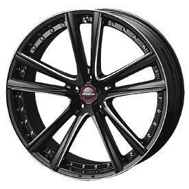 足下のドレスアップに最適!ESTATUS Style-652(エステイタス スタイル652)22インチ-8.5J インセット35・5H/114.3「ブラックサイドマシニング」1本 アルミホイール wheel