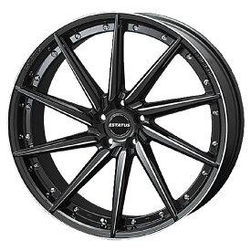 足下のドレスアップに最適!ESTATUS Style-607(エステイタス スタイル607)19インチ-8.0J インセット48・5H/112「ブラックサイドマシニング」1本 アルミホイール wheel