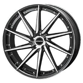 足下のドレスアップに最適!ESTATUS Style-607(エステイタス スタイル607)18インチ-7.5J インセット53・5H/114.3「ブラックミラーフィニッシュ」1本 アルミホイール wheel