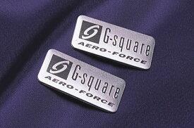 ロゴを刻印した!G-square(シースクエア)エアロフォースアルミプレート