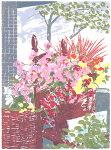 福本吉秀、Florist's、版画/シルクスクリ-ン