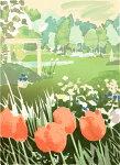福本吉秀、SpringGarden、版画/シルクスクリ-ン