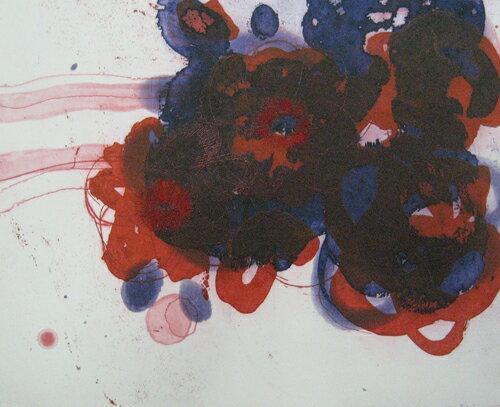 原陽子、花-7、版画/エッチング・アクアチント