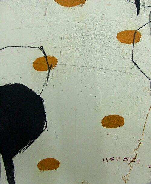 原陽子、帰路、版画/銅版画