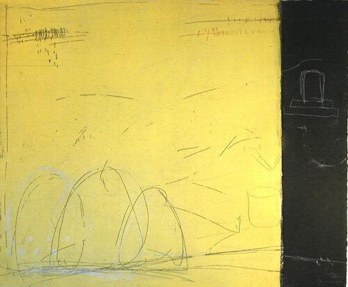 原陽子、うす闇の子供、版画/銅版画