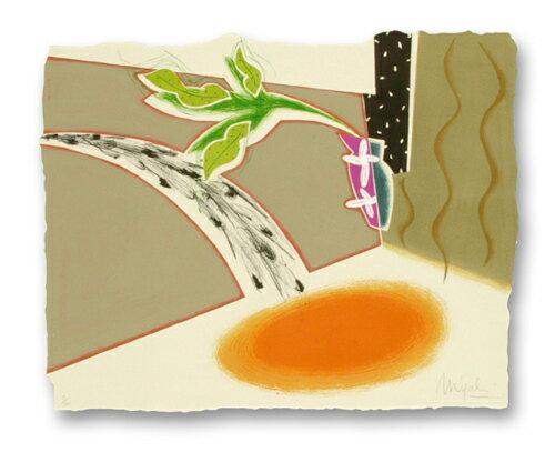 片山みやび、陽気な留守の守り、版画/リトグラフ