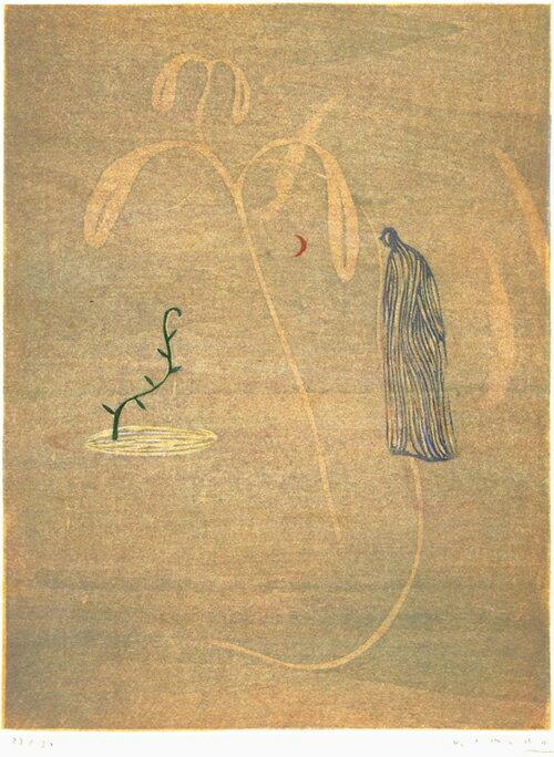 木村繁之、夜の呼び名—9、版画/木版画