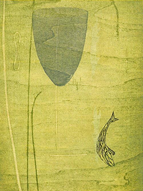 木村繁之、水、版画/木版画