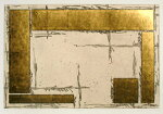 中澤愼一、courtyard1、版画/銅版画、金箔