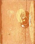 朴再英、みつめる、版画/水性木版画