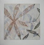 白駒一樹、Fossil-12L、版画/リノカット
