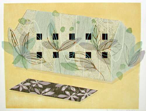 白駒一樹、Botanicalhouse、版画/油性木版・シルクスクリーン