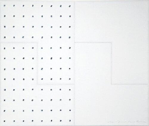 坪田政彦、境・点・描-1、oiloncanvas