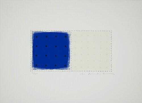 坪田政彦、描・描・点-A、版画/シルクスクリ-ン