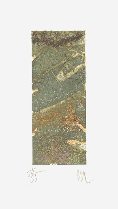 山本正文、四季の花、版画/銅版画