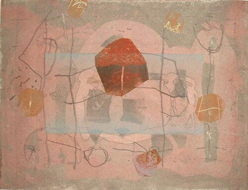 山本正文、未完の花園、版画/銅版画