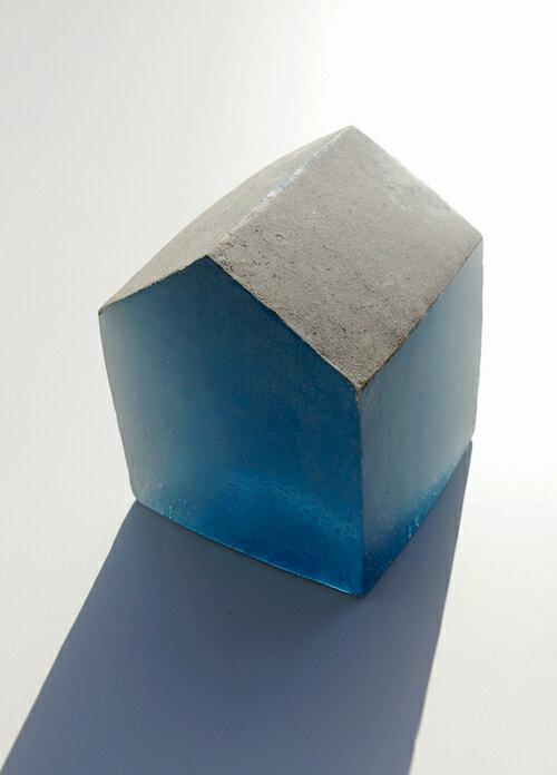 【ガラス彫刻】オブジェ/キャストガラス扇田克也OGFA-01HOUSE現代アートオブジェ送料無料