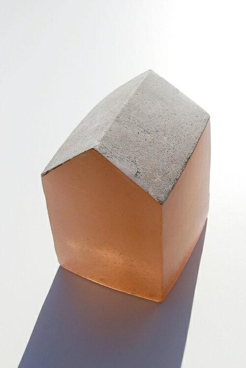 【ガラス彫刻】オブジェ/キャストガラス扇田克也OGFA-02HOUSE現代アートオブジェ送料無料