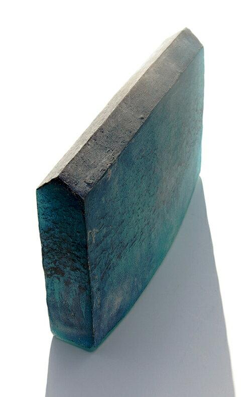 【ガラス彫刻】オブジェ/キャストガラス扇田克也OGFA-12HOUSE現代アートオブジェ送料無料