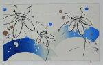 版画/リトグラフ・ドライポイント鳴海伸一silentfloral-潮風とともに-モダンアート抽象送料無料※この商品を大幅値引き表示している偽サイトがありますのでご注意下さい。