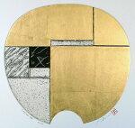 中澤愼一、Latitude8、現代アート/版画/銅版画、金箔