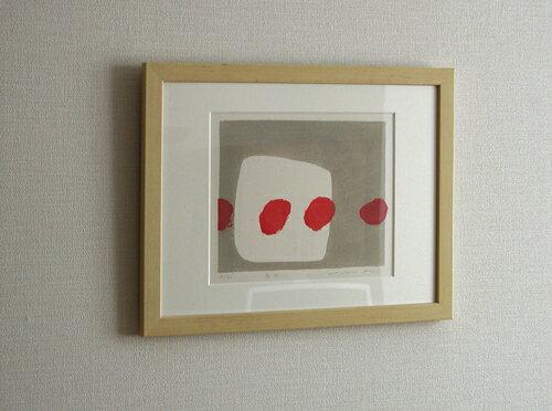 【モダンアート】版画/木版画安芸真奈窓辺送料無料