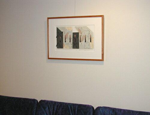 版画/リノカット白駒一樹草舎-1モダンアート送料無料※この商品を大幅値引き表示している偽サイトがありますのでご注意下さい。