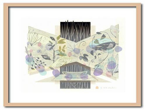 版画/油性木版シルクスクリーン白駒一樹夏の船モダンアート送料無料※この商品を大幅値引き表示している偽サイトがありますのでご注意下さい。
