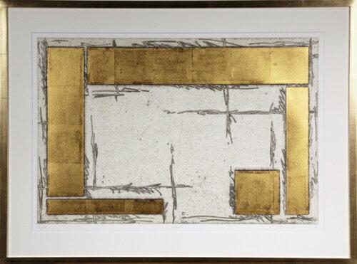 版画/銅版画、金箔中澤愼一courtyard1現代アート抽象送料無料※この商品を大幅値引き表示している偽サイトがありますのでご注意下さい。