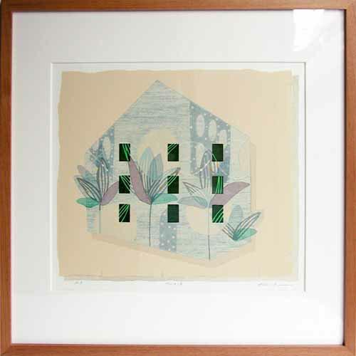 白駒一樹House-2現代アート/抽象/版画/油性木版・シルクスクリーン