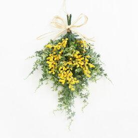 ミモザ リース スワッグ 玄関飾り 造花 アーティフィシャルフラワー