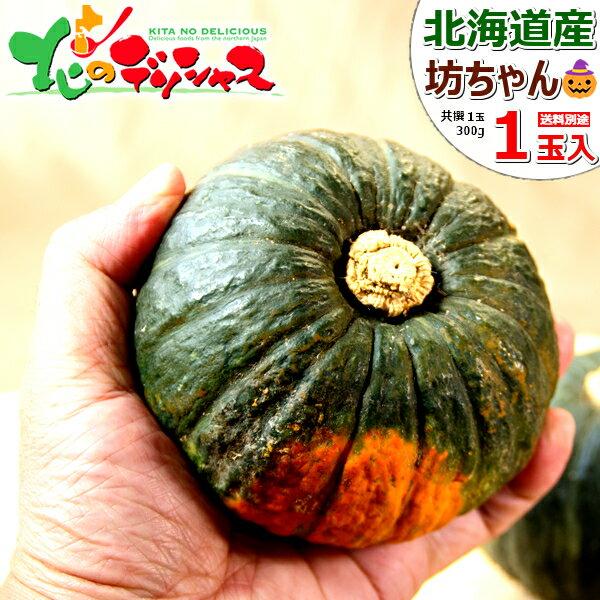 【予約】北海道産 坊ちゃんかぼちゃ 1玉 (1玉 300g) 同梱 自宅用 かぼちゃ カボチャ 南瓜 坊ちゃん 野菜 秋野菜 グルメ 北海道 ハロウィン お取り寄せ