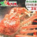 年末年始OK送料無料カニ特大ズワイガニ3尾セット(姿/約950g×3尾/ボイル済み/冷凍品)かに蟹堅蟹かにみそずわいがにずわい蟹ズワイ蟹ギフトお歳暮北海道グルメお取り寄せ