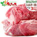 ラム肉 ブロック 3kg (ショルダー/1kg×3P/冷凍品) 自宅用 人気 塊肉 ブロック肉 ラムブロック ラム 肉 羊肉 ジンギスカン BBQ 焼肉 グ…