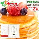 【メール便/送料無料】北海道パンケーキミックス食べ比べ 650g(NFS(200g×1P)/よつ葉(450g×1P)) よつ葉乳業 江別製粉 パンケーキ ホットケーキ ワッフル パンケーキミックス ホ