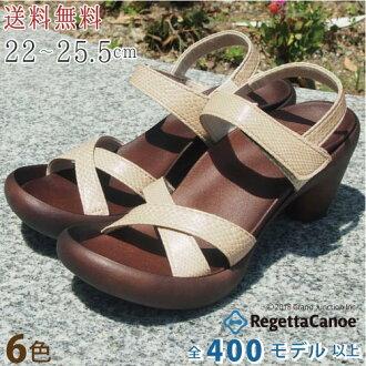 RegettaCanoe canoubananaheel Python 设计吊带凉鞋 /CJBN-5708 / 日本 / 帆船赛