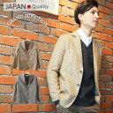 [GrandJunction]ウールチェックテーラードジャケット メンズ ハウンドトゥース 千鳥格子 アイビー 日本製